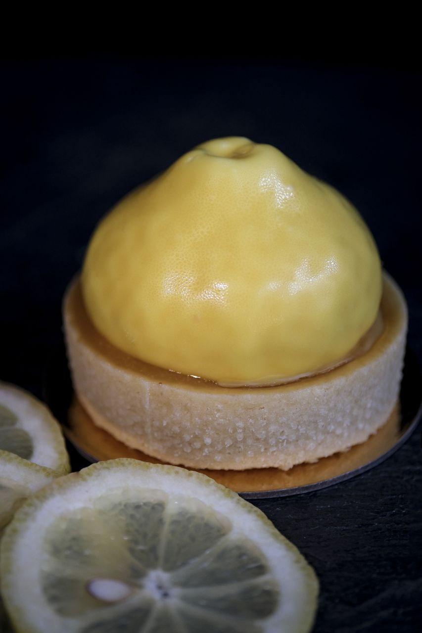 Zitronensahne mit Lemon Curd